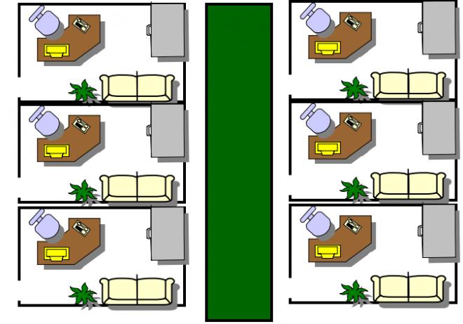 办公室封闭式布置方法图片