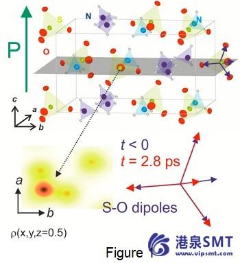 扭动开关晶体的极化原子