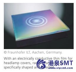 集成雷达传感器的功能薄膜结构